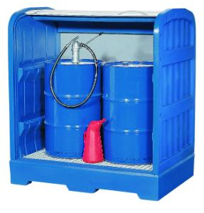 Pallets and sumps for storage of hazardous materials